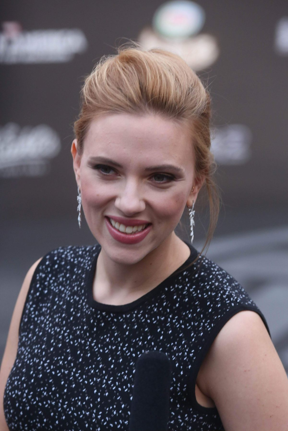 SCARLETT JOHANSSON at Captain America: The Winter Soldier Press Event in Beijing