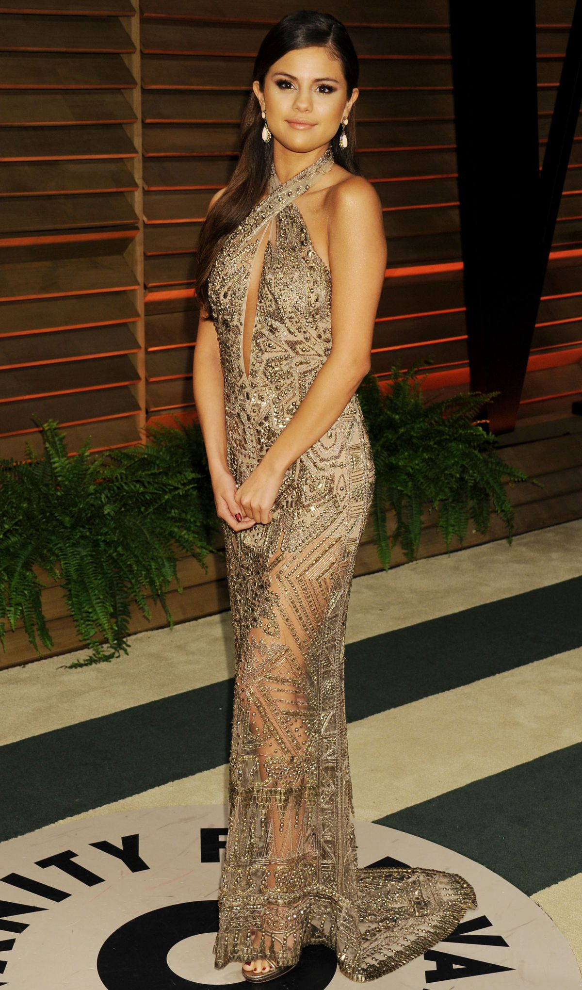 SELENA GOMEZ at Vanity Fair Oscar Party in Hollywood