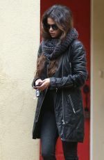 SELENA GOMEZ Leaves Her Stylists House in Beverly Hills