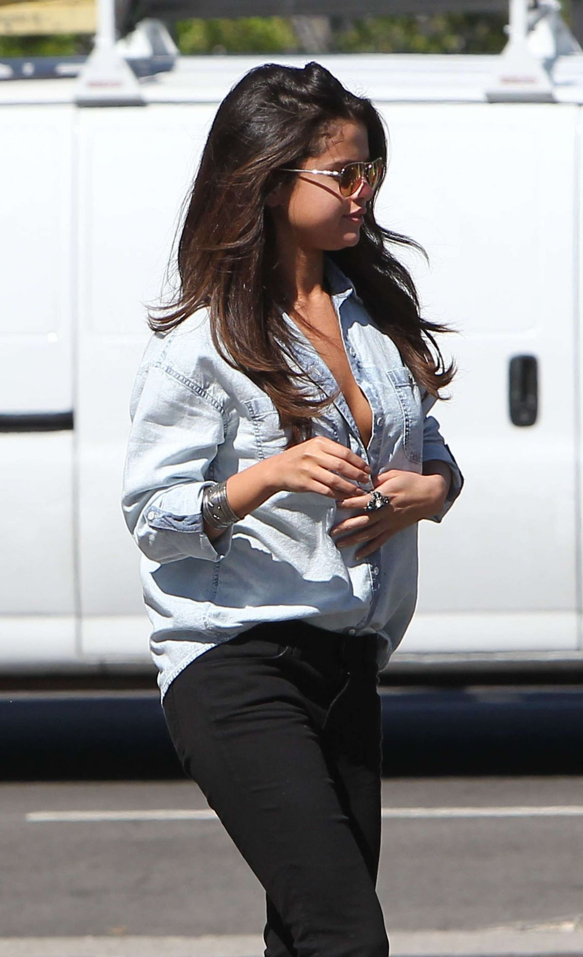 SELENA GOMEZ Leaves Kabuki Restaurant in Hollywood