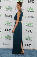 SHAILENE  WOODLEY at 2014 Film Independent Spirit Awards in Santa Monica