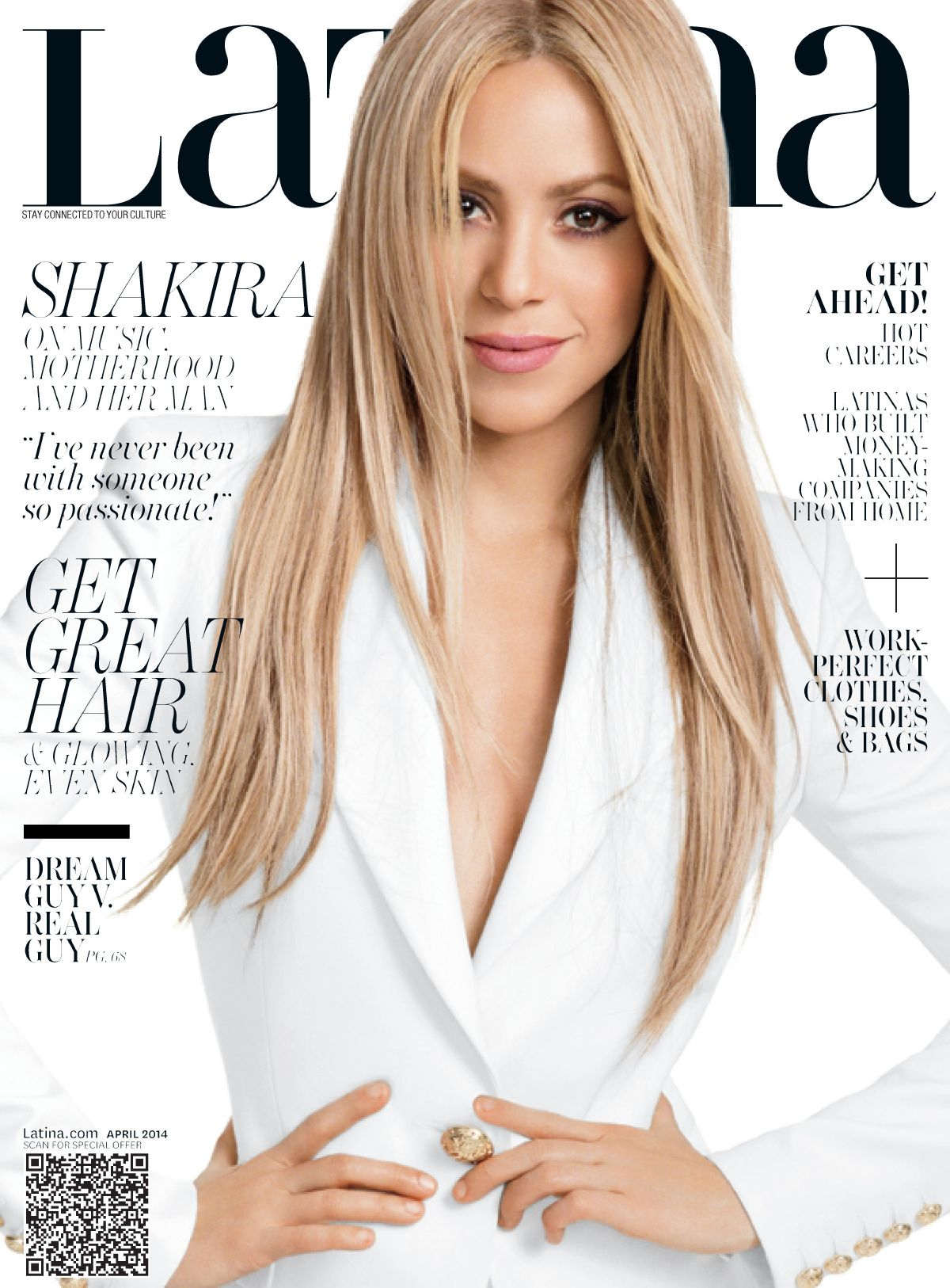 SHAKIRA on the Cover of Latina Magazine, April 2014 Issuee