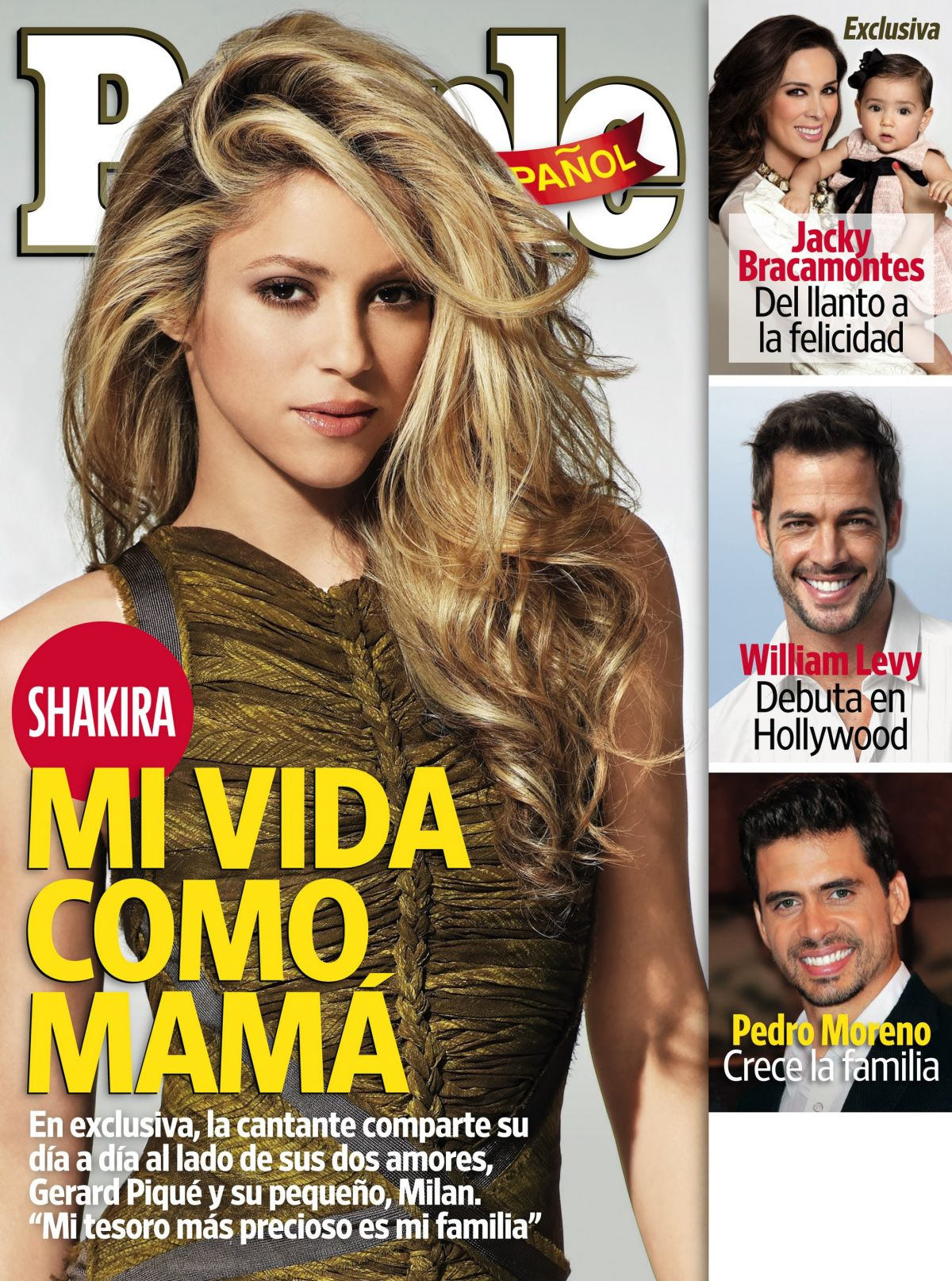 SHAKIRA on the Cover of People en Espanol Magazine, April 2014 Issue