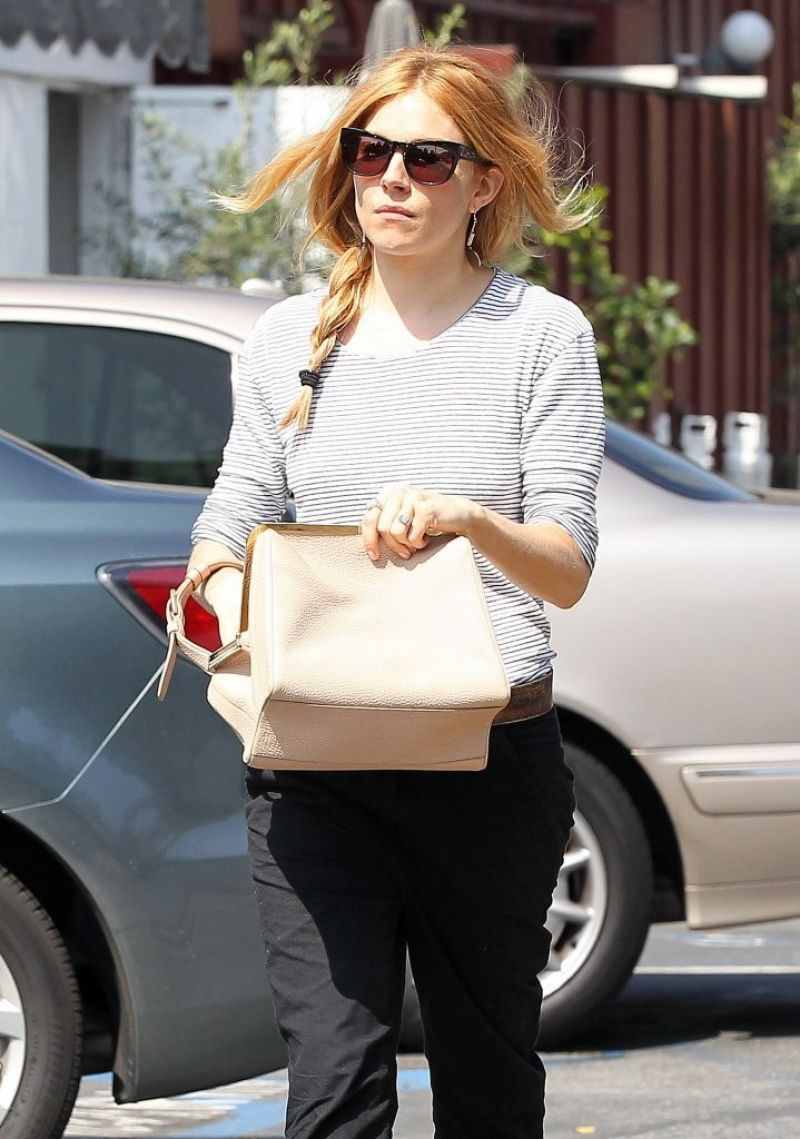 SIENNA MILLER Out and About in Brentwood