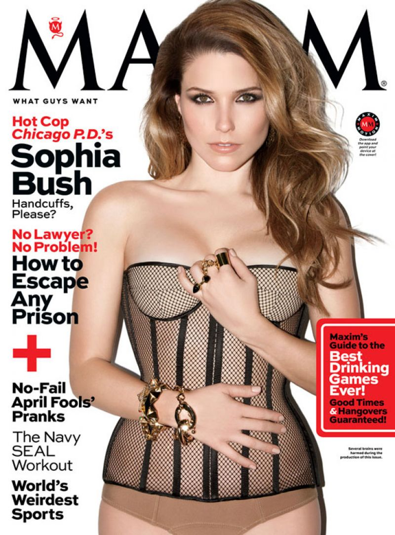 SOPHIA BUSH in Maxim Magazine, April 2014 Issue
