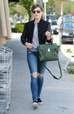 SOPHIA BUSH in Ripped Jeans Out in Los Angeles