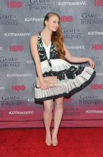 SOPHIE TURNER at Game of Thrones Fourth Season Premiere in New York