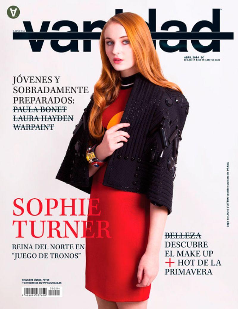 SOPHIE TURNER in Vanidad Magazine, Spain April 2014 Issue