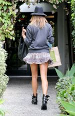 STACY KEIBLER in Short Skirt Out in Los Angeles