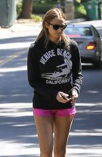 STACY KEIBLER in Shorts Out and About in West Hollywood