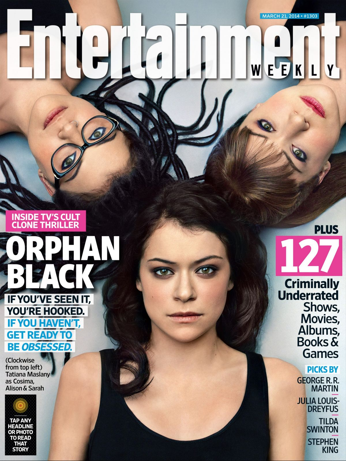 TATIANA MASLANY in Entertainment Weekly Magazine, March 21st 2014 Issue