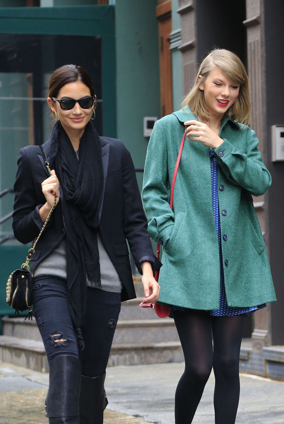 Lily aldridge out for lunch at locanda verde restaurant in new york