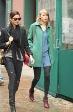 TAYLOR SWIFT and LILY ALDRIDGE Out for Lunch at Locanda Verde Restaurant in New York