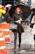 TAYLOR SWIFT on Rainy Day Out in New York