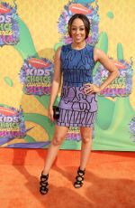 TIA MOWRY at 2014 Nickelodeon's Kids' Choice Awards in Los Angeles