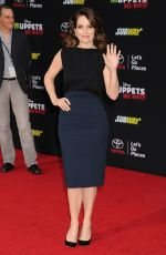 TINA FEY at Muppets Most Wanted Premiere in Los Angeles
