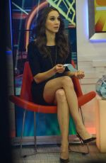 TROIAN BELLISARIO on the Set of Good Morning America in New York