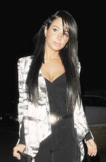 TULISA CONTOSTAVLOS Arrives at Gilgamesh Restaurant in Camden