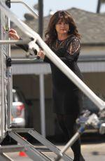 VALERIE BERTINELLI at Hot in Cleveland Set in Santa Monica