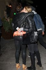 VANESSA HUDGENS and ASHLEY BENSON at El Compadre Restaurant in West Hollywood