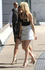 VANESSA HUDGENS Arrives at Creative Artists Agency in Beverly Hills