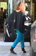 VANESSA HUDGENS Gets an Iced Coffee at the Coffee Bean in Studio City