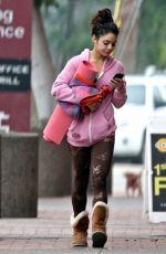 VANESSA HUDGENS Heading to Yoga Class in Studio City