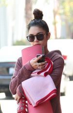 VANESSA HUDGENS in Shorts Heading to Yoga Class in Studio City