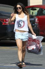 VANESSA HUDGENS in Shorts Out and About in Los Angeles