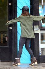 VANESSA HUDGENS on Rainy Day Out in Studio City