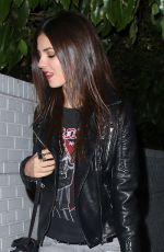 VICTORIA JUSTICE Leaves Chateau Marmont in Los Angeles