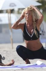 VICTORIA SILVSTEDT Doing Yoga at a Beach in Miami