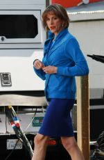 WENDIE MALICK at Hot in Cleveland Set in Santa Monica