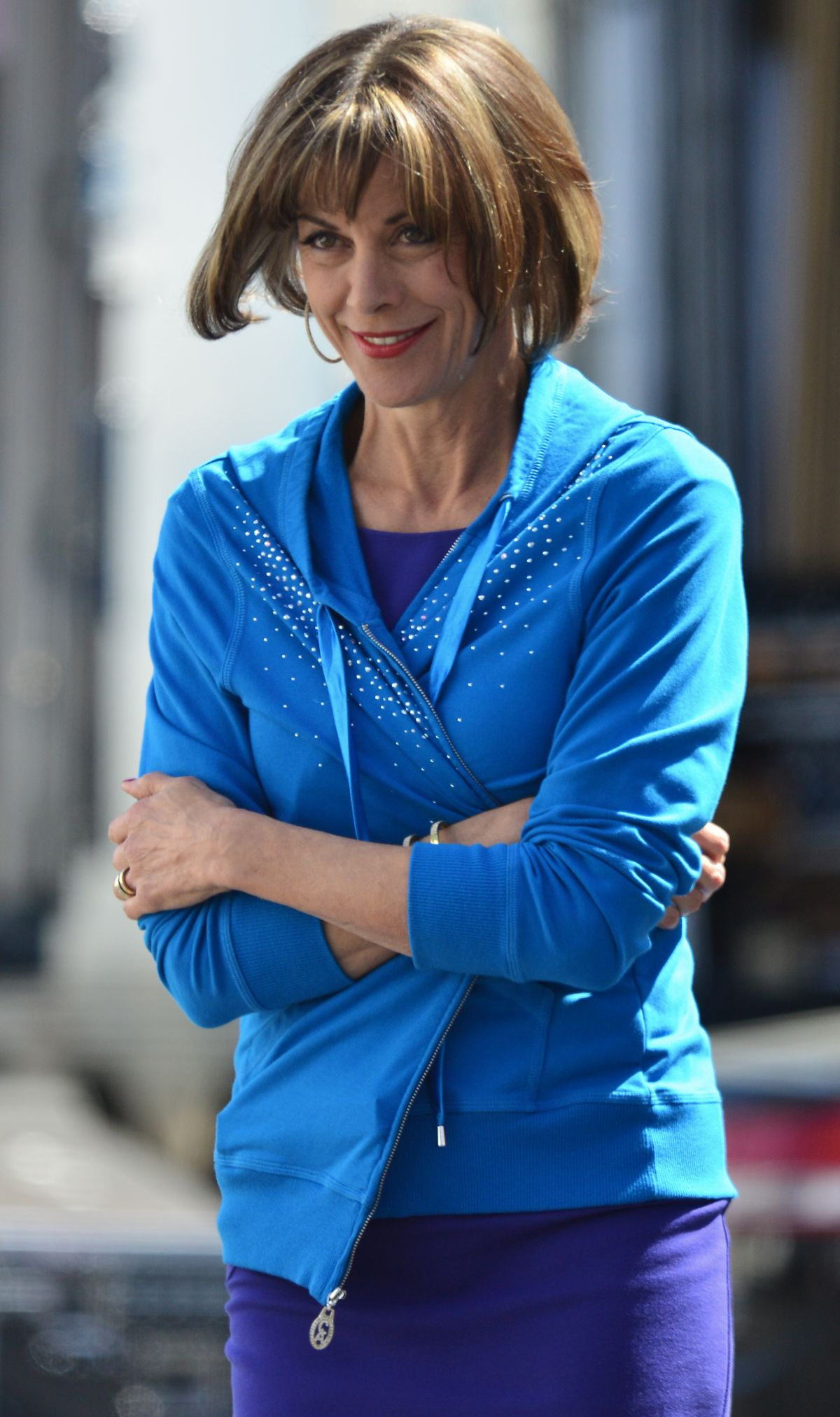 WENDIE MALICK at Hot in Cleveland Set in Santa Monica - HawtCelebs