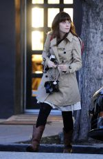 ZOOEY DESCHANEL Leaves a Hair Salon in Beverly Hills