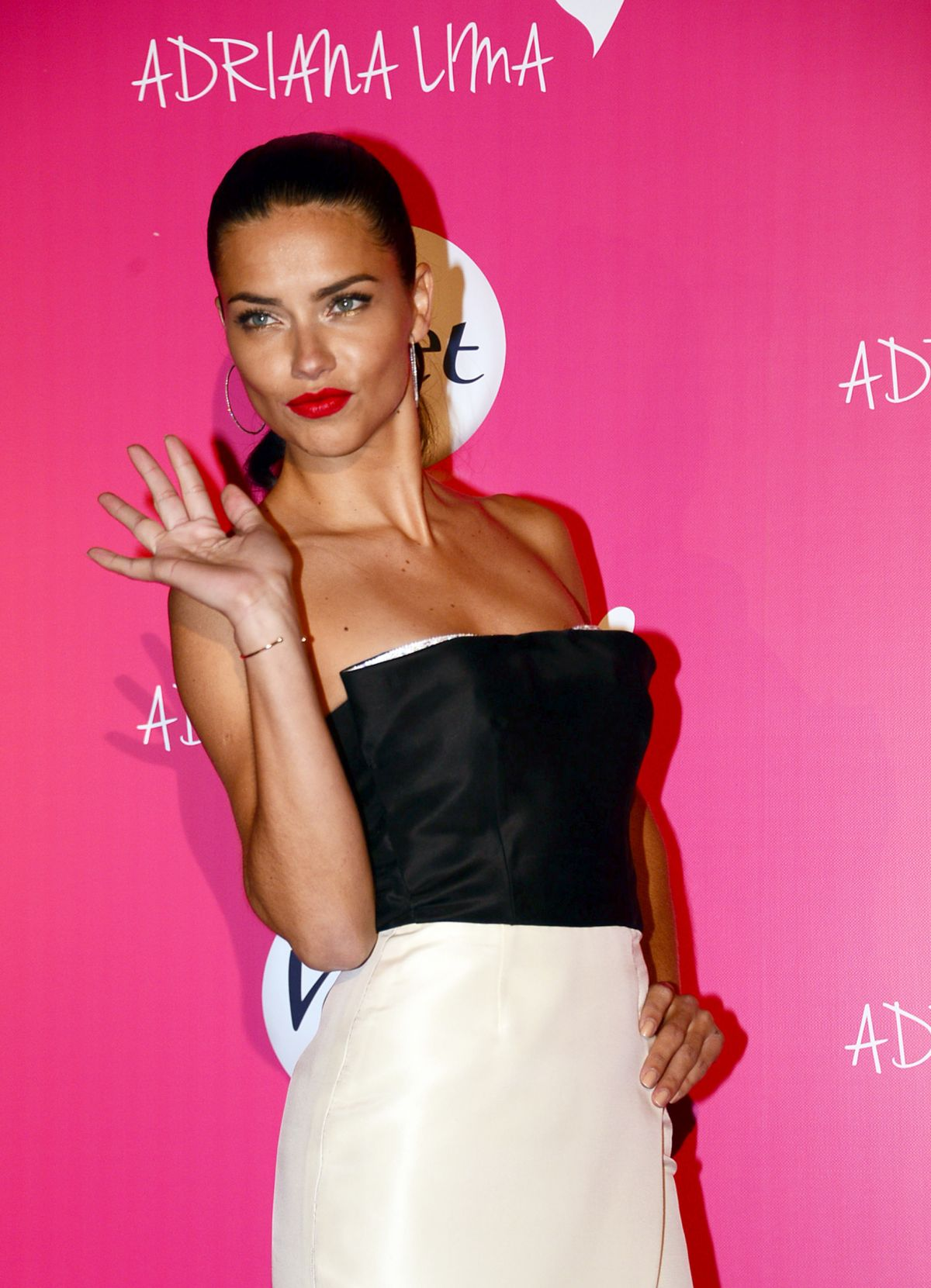 ADRIANA LIMA Promotes Veet Naturals in Istanbul