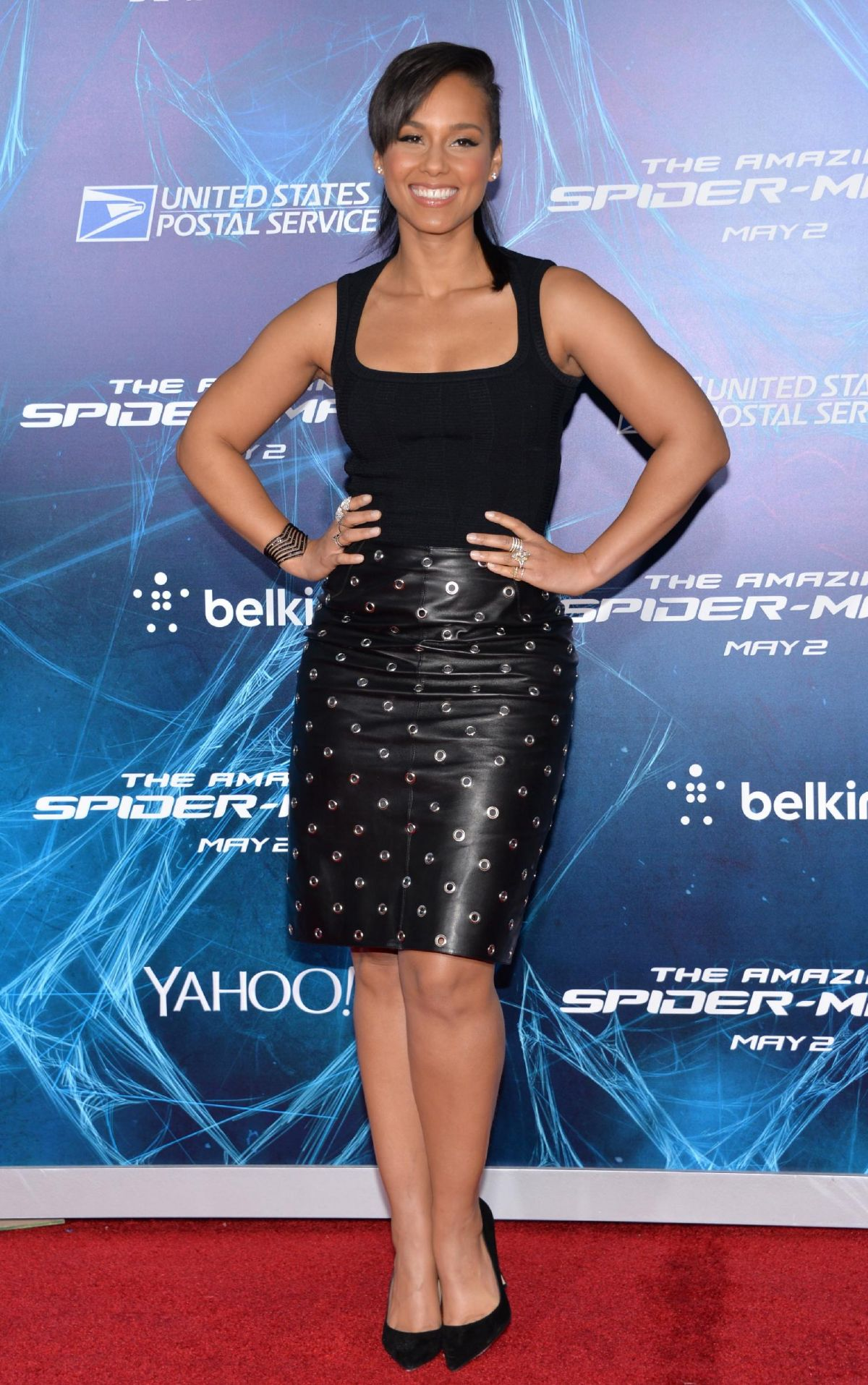 ALICIA KEYS at The Amazing Spider-man 2 Premiere in New York