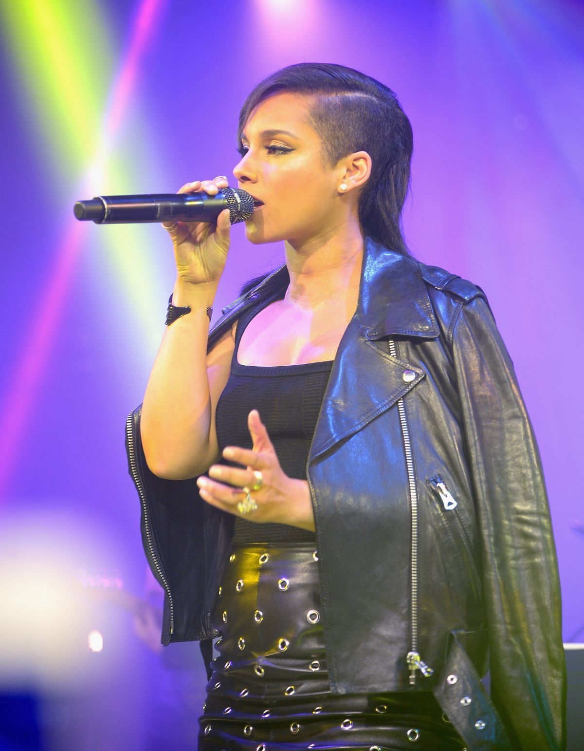 ALICIA KEYS Performs at The Amazing Spider-man 2 After Party