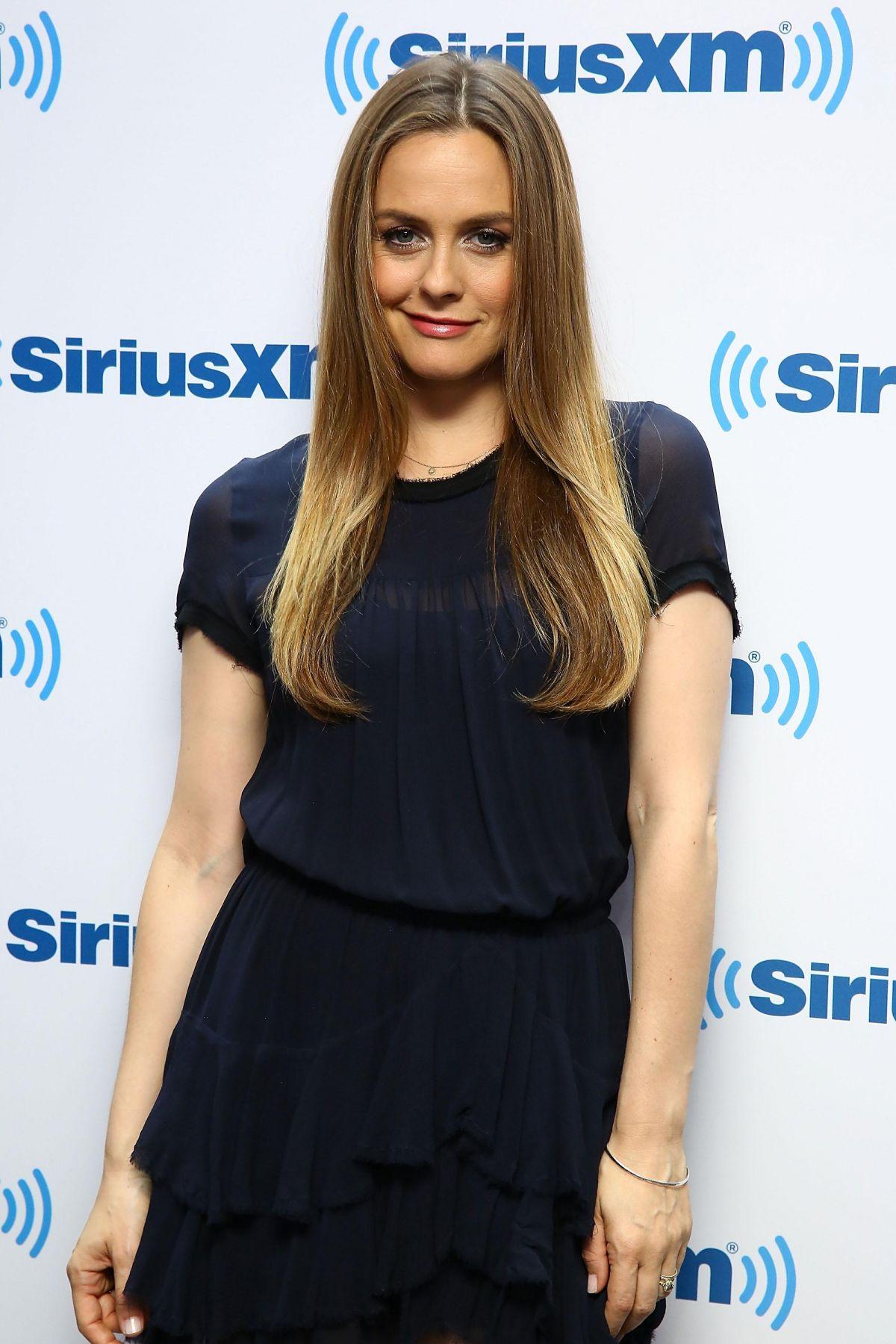 ALICIA SILVERSTONE at SiriusXM Studios in New York