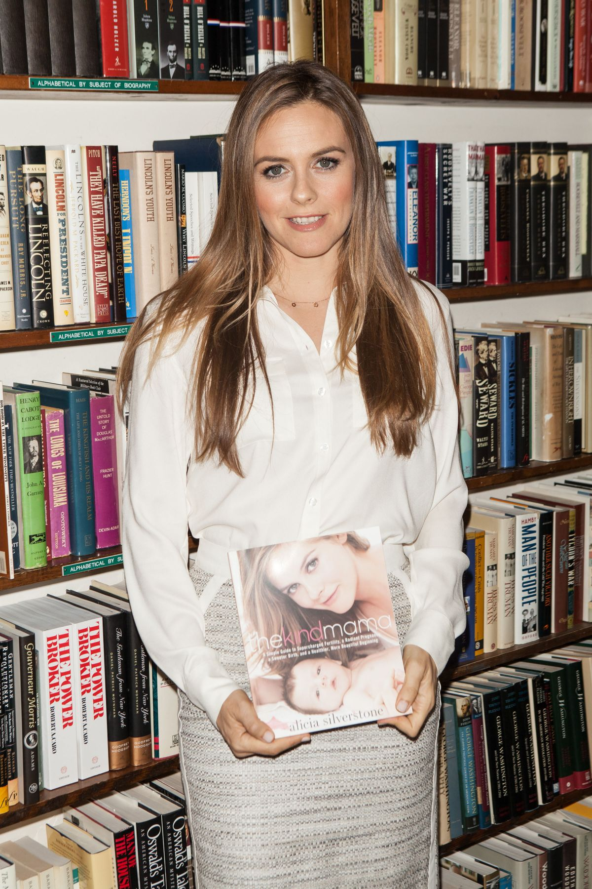 ALICIA SILVERSTONE at The Kind Mama Book Signing in New York