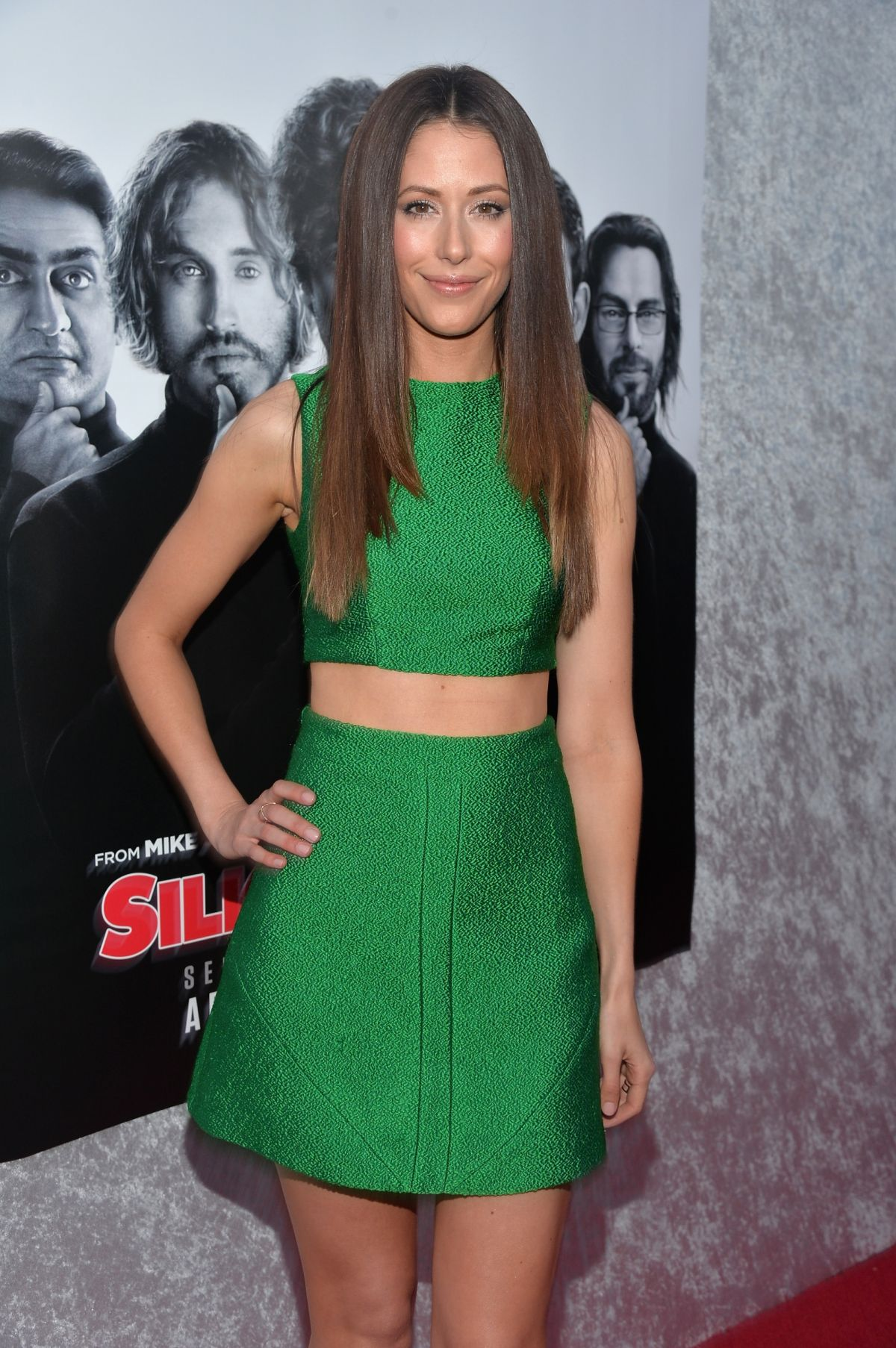 AMANDA CREW at Silicon Valley Premiere in Hollywood