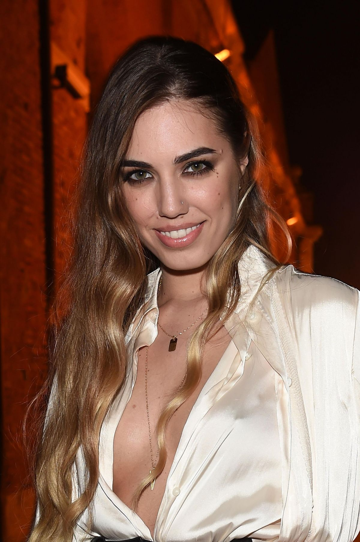 AMBER LE BON at Diesel Fall/Winter 2014 Collection Presentation in Venice