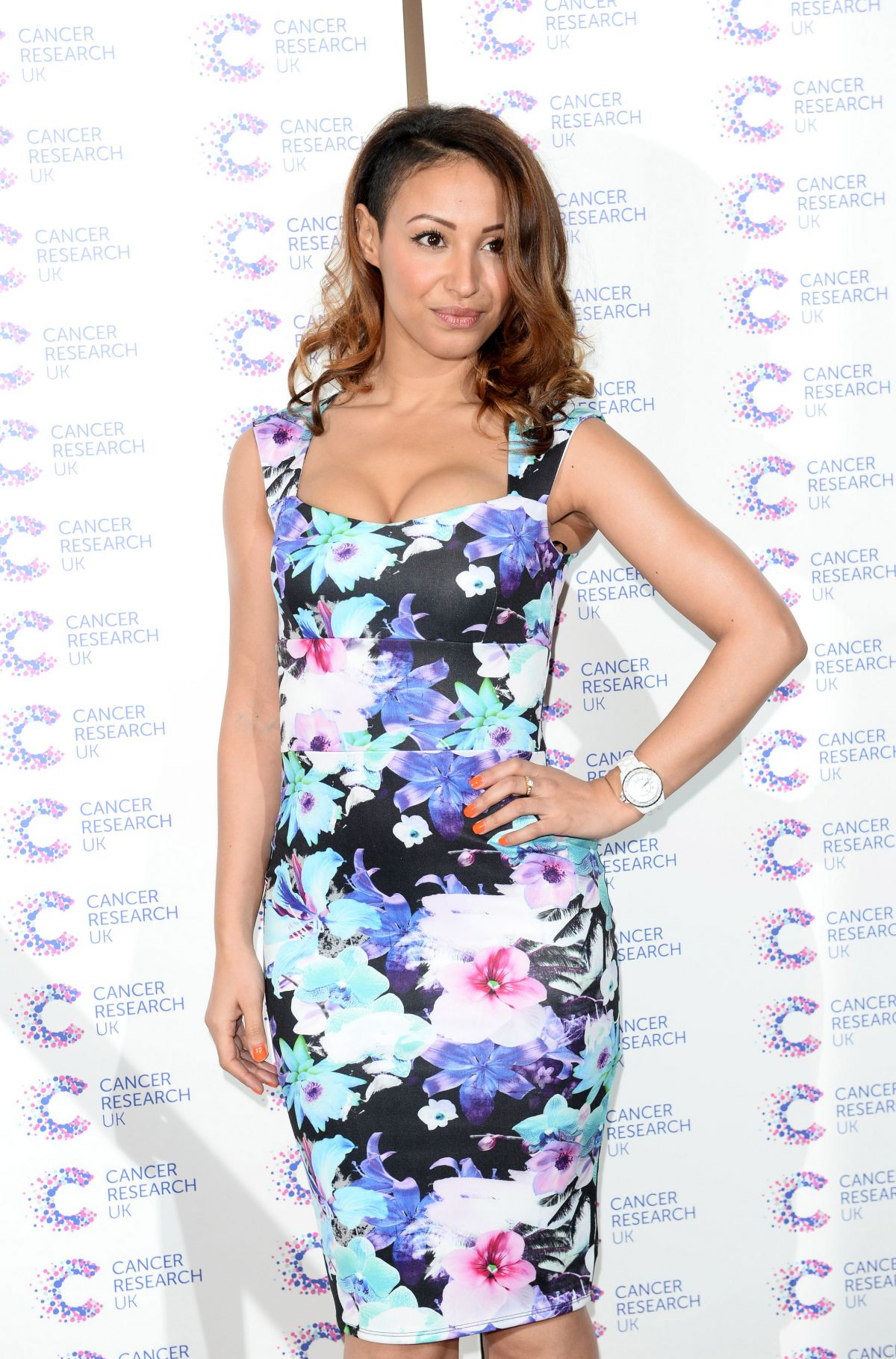 AMELLE BERRABAH at Jog on Cancer Event at Kensington Roof Gardens