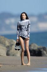 ANDREEA DIAONU at Vogue Photoshoot on the Beach in Malibu