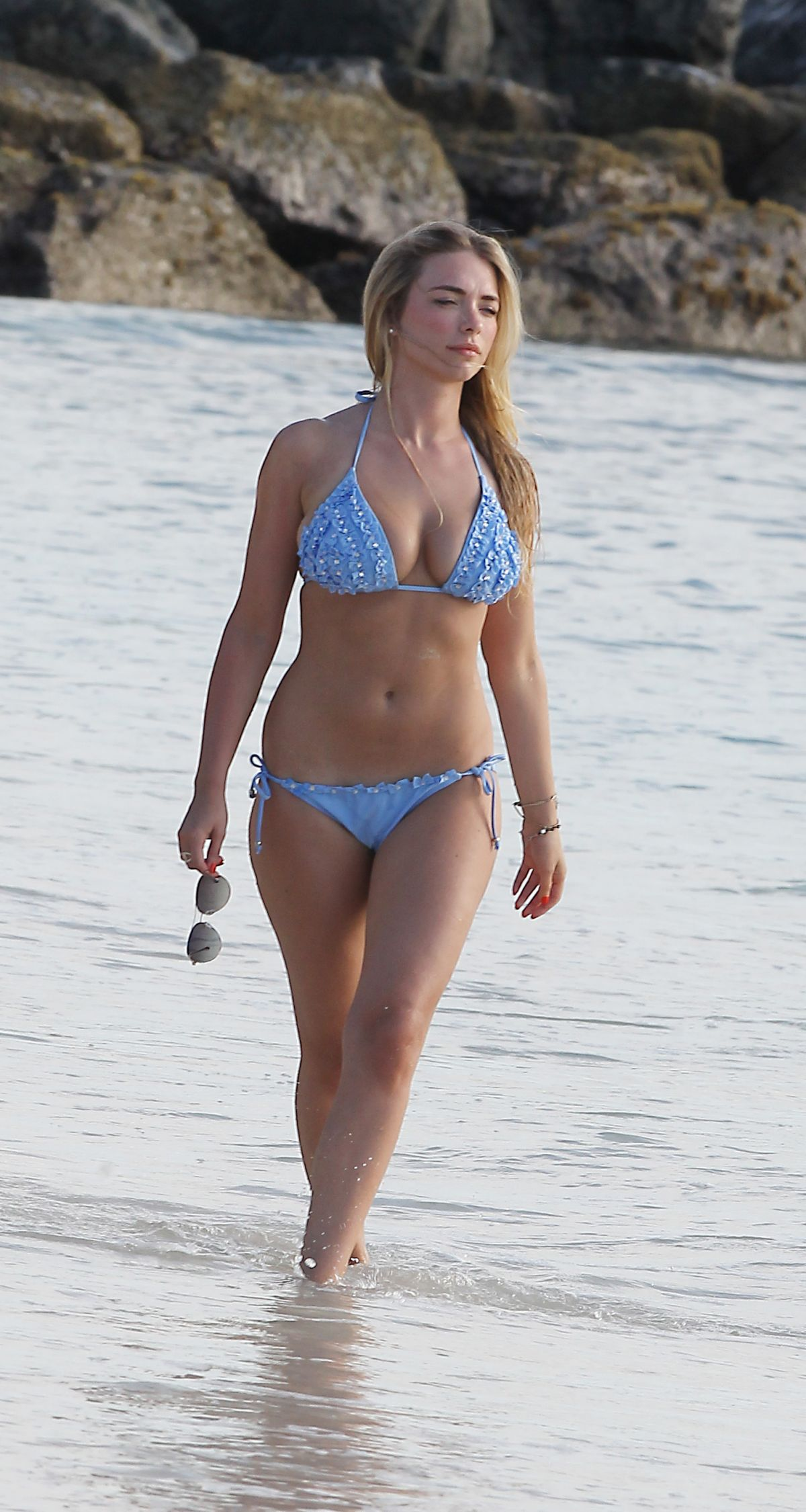 APRIL SUMMERS i Bikini at a Beach on Holiday in Barbados