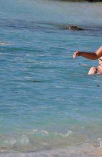 APRIL SUMMERS in Bikini on the Beach in Barbados