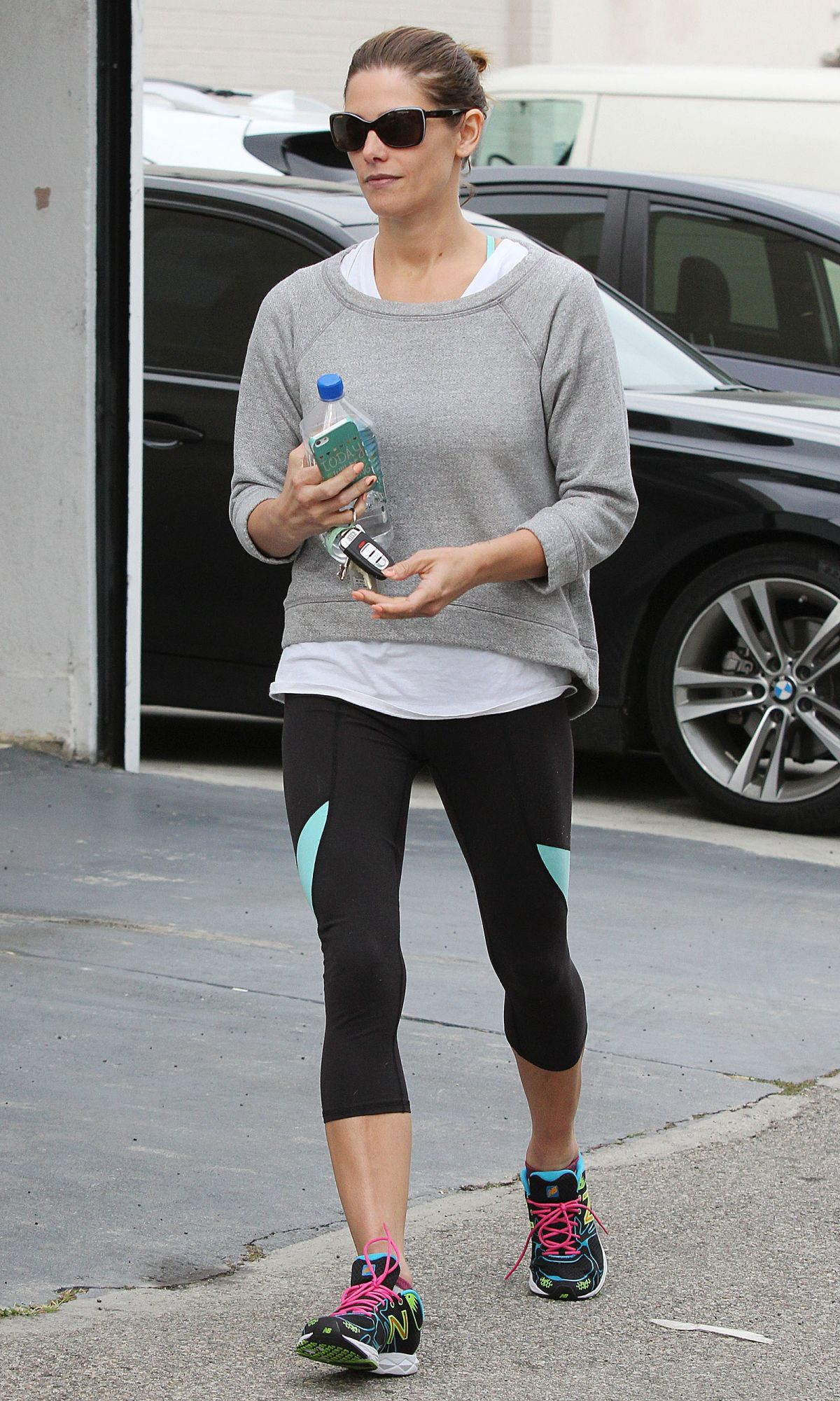 ASHLEY GREENE in Leggings Leaves a Gym in West Hollywood