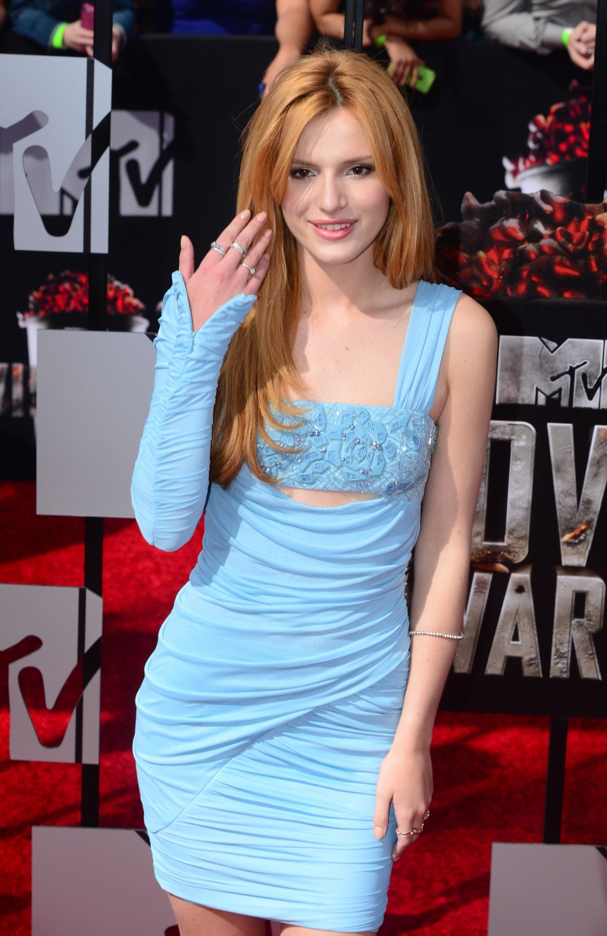 BELLA THORNE at MTV Movie Awards 2014 in Los Angeles
