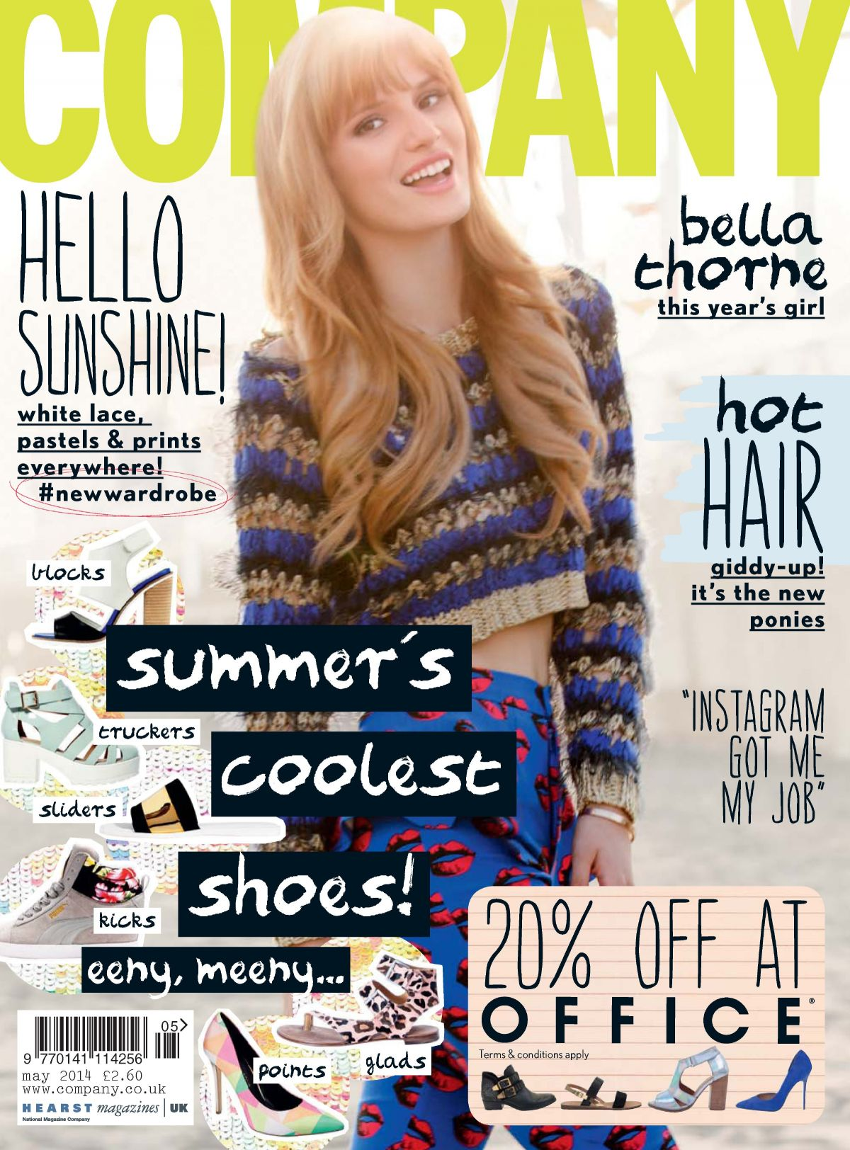 BELLA THORNE in Company Magazine, May 2014 Issue