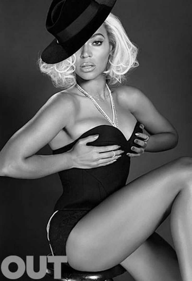 BEYONCE in Out Magazine, May 2014 Issue